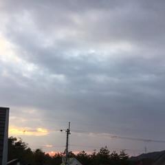 いま空/定位置観測/夕暮れ風景/夕焼け大好き/今日の夕焼け 日没 16:49 今日も一日お疲れ様でし…