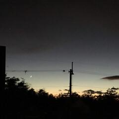 いま空/定位置観測/夕焼け大好き/今日の夕焼け/夕暮れ風景 日没 16:50 今日も一日お疲れ様でし…