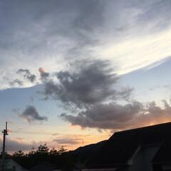 いま空/夕焼け雲/夕暮れ時/夕焼け風景 日没 18:50 今日も一日お疲れ様でし…(2枚目)