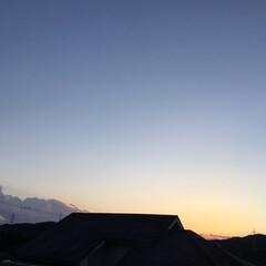 夕景/夕焼け 日没 19:06 今日も一日お疲れ様でし…