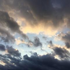 夕焼け雲/夕焼け 日没 19:16 今日も一日お疲れ様でし…(2枚目)