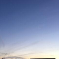 夕焼け雲/夕焼け 日没 19:16 今日も一日お疲れ様でし…