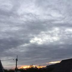 夕焼け大好き/夕暮れ風景/今日の夕焼け 日没 17:22 今日も一日お疲れ様でし…