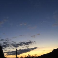 定点観測/いま空/今日の夕焼け/夕暮れ風景/夕焼け大好き 日没 17:02 今日も一日お疲れ様でした