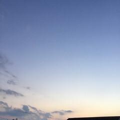 夕焼け雲/夕暮れ風景/夕焼け大好き 日没 18:45 今日も一日お疲れ様でし…
