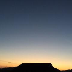 いま空/夕暮れ風景/夕焼け大好き 日没 18:43 今日も一日お疲れ様でし…