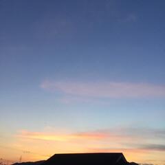 夕暮れ風景 再掲すみません 今日の夕焼けは今日のうち…