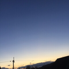 いま空/今日の夕焼け/夕焼け大好き/夕暮れ風景 日没 17:12 今日も一日お疲れ様でし…(1枚目)