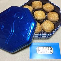 お土産の缶/お土産 娘の手土産 クッキー大好き でも容器の缶…
