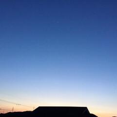 一番星/夕焼け大好き/今日の夕焼け 日没 18:31 今日も一日 お疲れ様で…