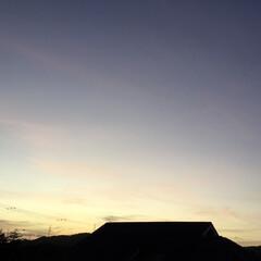いま空/今日の夕焼け/夕焼け大好き/夕暮れ風景 日没 17:48 今日も一日お疲れ様でした