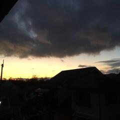 今日の夕景 毎日違う夕陽が綺麗です。