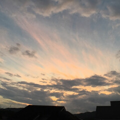 トワイライトタイム/定位置観察/いま空/今日の夕焼け/夕暮れ風景/夕焼け大好き 日没 19:03 今日も一日お疲れ様でし…(1枚目)