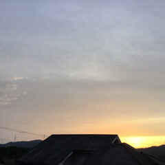 夕暮れ/夕焼け大好き 日没 19:09 今日も一日お疲れ様でし…