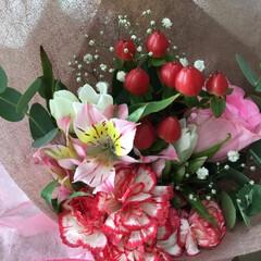 花のある暮らし/お花大好き/敬老の日プレゼント 敬老の日💦💦 孫達からのプレゼント あり…(1枚目)