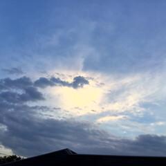 夕焼け/夕暮れ時/夕焼け雲 日没 19:10 今日も一日お疲れ様でし…