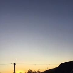 定点観測/いま空/今日の夕焼け/夕暮れ風景/夕焼け大好き 日没 16:55 今日も一日お疲れ様でし…
