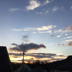 いま空/定点観測/今日の夕焼け/夕暮れ風景/夕焼け大好き 日没 16:49 今日も一日お疲れ様でし…(2枚目)