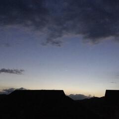 一番星/夕暮れ/夕焼け景色 日没 18:59 今日も一日お疲れ様でし…