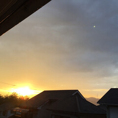 夕焼け 今日の夕焼け 夕陽がでっかくなって キラ…