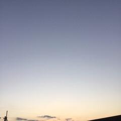 いま空/今日の夕焼け/夕暮れ風景/夕焼け大好き 日没 17:27 今日も一日お疲れ様でし…