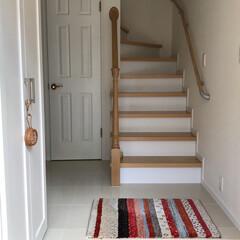玄関マット/玄関インテリア/玄関 今朝の玄関。