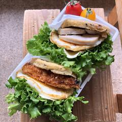 ロカボダイエット/低糖質/ロカボ/低糖質レシピ/LIMIAごはんクラブ/おうちごはんクラブ ・がんもバーガー2種 (トンカツ、鶏ハム)
