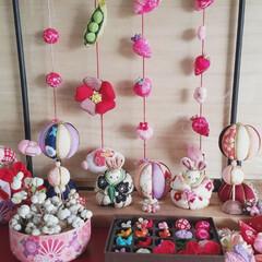 おひな祭り/おひなさま/ピンク/雑貨/ハンドメイド/暮らし/... ♡おひなさま ♡手作り 今年も少し足しま…