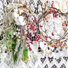 リース/手作り/クリスマス2019/リミアの冬暮らし/雑貨/ハンドメイド/... ♡クリスマススワッグ ちょっと小ぶりに修…
