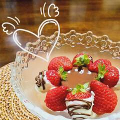 バレンタイン/バレンタイン2020/暮らし ♡バレンタイン ♡いちご  🍓食べ比べパ…