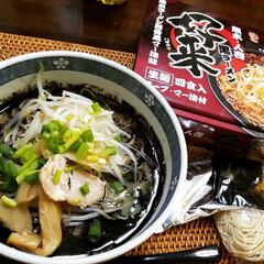 ラーメン/お土産/食事情 熊本・人吉のお土産をいただきました。 黒…