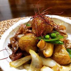 家庭料理/おうちごはん/暮らし ♡牛肉と新じゃがのピリ辛炒め ♡おうちご…