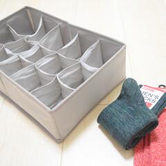 節約/ニトリ/簡単/おしゃれ/ラク家事/靴下収納/... こちらもニトリで購入した 仕切りケースで…