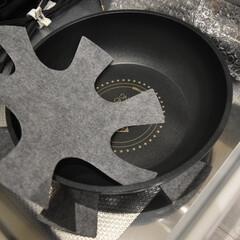 アイリスオーヤマ IH 対応 フライパン 鍋 6点セット ダイヤモンドコートパン 20cm 26cm シルバー 取っ手 | アイリスオーヤマ(圧力鍋)を使ったクチコミ「フライパンが傷つかないように IKEAで…」