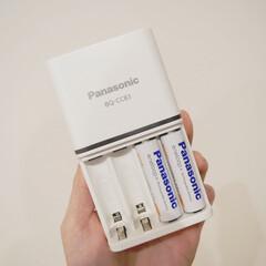 充電式/電池/リモコン/Panasonic/住まい/おすすめアイテム/... 最近買った充電式電池。  ずっと100均…