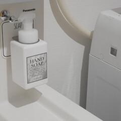 オテル/洗面所収納/節約/簡単/おしゃれ/ラク家事/... 洗面台の泡ハンドソープは オテルのボトル…