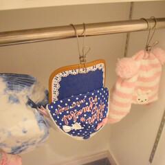 ハット/子供のいる暮らし/100均/帽子収納/帽子掛け/リミとも部/... \我が家の帽子収納/  全部掛けたらこん…
