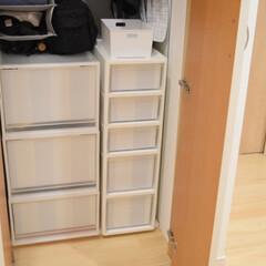 衣類収納/楽天市場/リビング棚/節約/無印良品/簡単/... 無印や楽天で購入したBOXを使って 衣類…