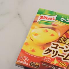スープ/マグ/リミとも部/スープマグ/キッチン/ダイソー/... \我が家のスープマグ/  今日はコーンク…