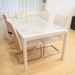 来客用/お誕生日会/パーティー料理/パーティ/伸長式ダイニングテーブル/伸長式テーブル/... ダイニングテーブルは最近新調しました🙌🏻…