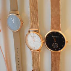 腕時計好き/腕時計収納/100均/節約/ダイソー/簡単/... 大きな円盤の腕時計も好き💕  時刻が見や…