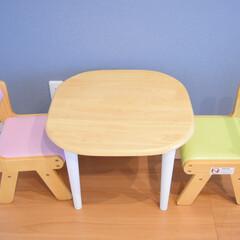 キッズチェア 子供 椅子 木製 na-ni なぁに Chair キッズチェア(ベビーラック、チェア)を使ったクチコミ「遊び部屋に置いてるキッズチェアと キッズ…」