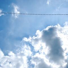 夏/空/夏の空 こんにちは🧸☀️ 朝晩少し涼しくなってき…