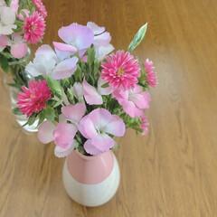 KEYUCA/ピンク/花のある暮らし/花が好き/お気に入りアイテム/フラワーベース おはようございます🧸☀️  処分価格です…