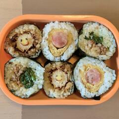 海苔巻き弁当/LIMIAごはんクラブ/お弁当 今日のおべんと。  ・海苔巻き(おかかチ…