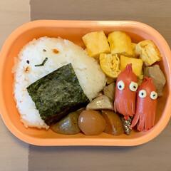筑前煮/ソーセー人/おにぎり弁当/お弁当/LIMIAごはんクラブ 今日のおべんと。  ・おにぎり(海苔の佃…