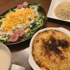 復活祭/LIMIAごはんクラブ/ミモザサラダ/イースター/暮らし/節約 「今日はイースターなので、ごちそう食べた…