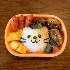フォロー大歓迎/猫おにぎり/ソーセー人/キャラ弁/LIMIAごはんクラブ/お弁当 今日のおべんと。  ・🐱おにぎり ・甘い…