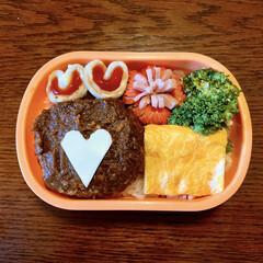 ハンバーグ弁当/だし巻き卵/ウインナー飾り切り/LIMIAごはんクラブ/バレンタイン2020/お弁当/... 今日のおべんと。  ・煮込みハンバーグ …