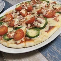 手作りピザ/ピザ/ふたりご飯/ふたり暮らし/暮らし/節約 【お家ピザ】  今日は旦那さんが お家で…